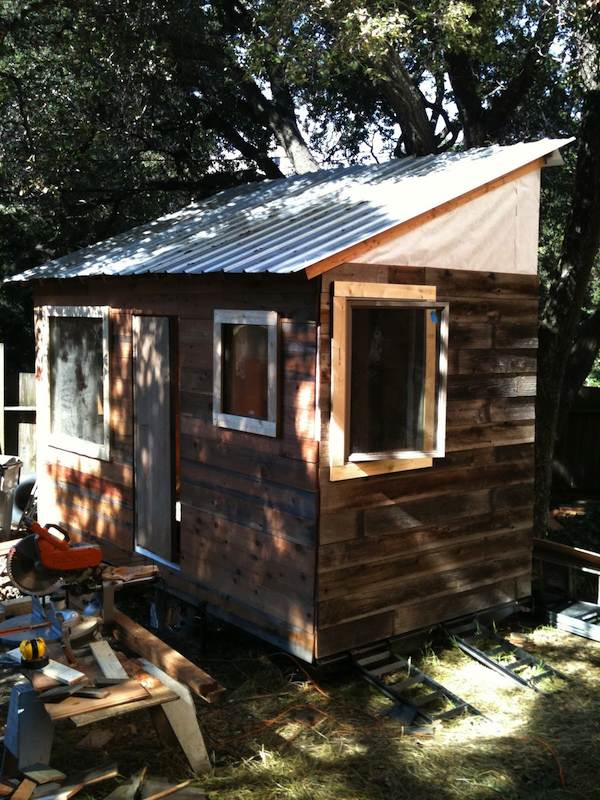matt wolpe tiny house on a trailer 02   DIY Tiny House on a Trailer for $5,500
