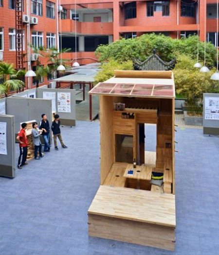 micro home china student 01   Architecture Student in China Builds 75 Sq. Ft. Tiny House