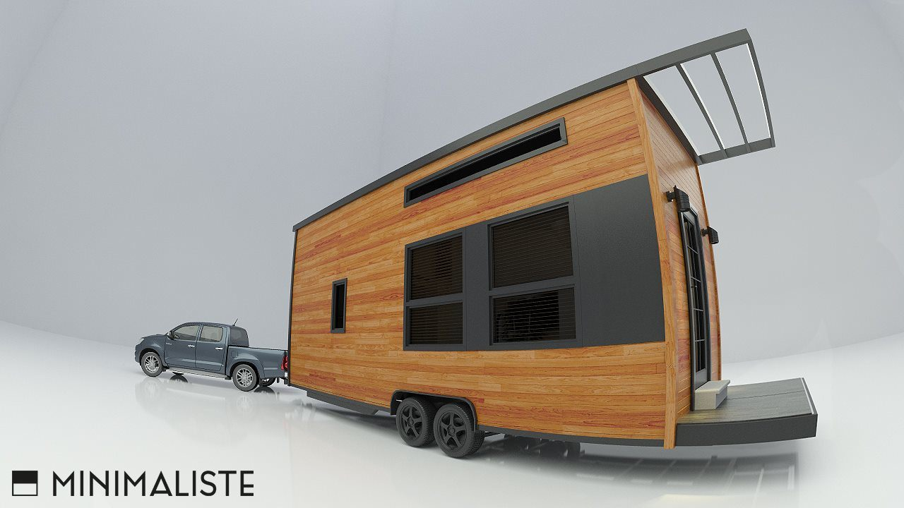 Minimaliste tiny homes modern and spacious for Minimalist cabin design