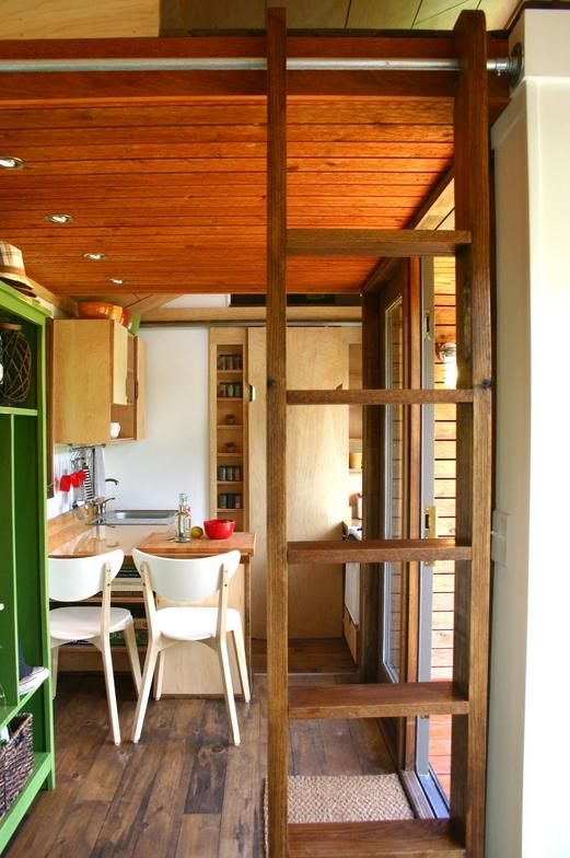 modern rustic interior tiny house design 130 sq ft