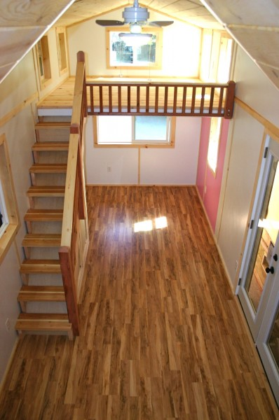 Furniture For Tiny Houses Interiors : If you weren't open to a sleeping loft before, does a staircase like ...