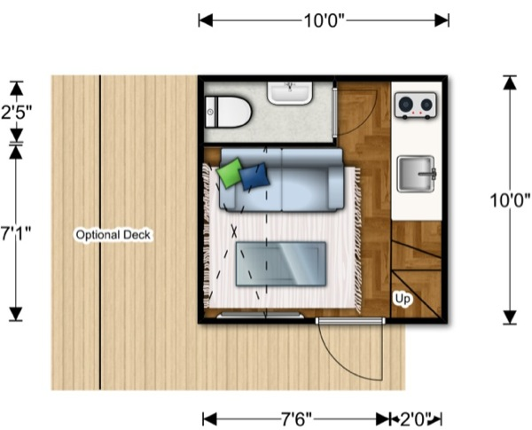 nomad micro home 06   100 Sq. Ft. Prefab NOMAD Micro Home: Could You Live this Small?