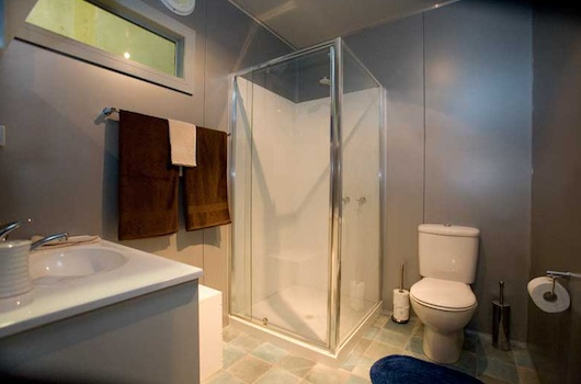 Bathroom in Shipping Container House