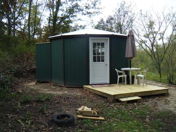 polyurt cabin 180 003   180 Sq. Ft. Yurt Cabin: Off Grid Mortgage free Living Setup