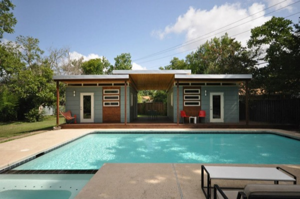 Poolside Tiny Houses