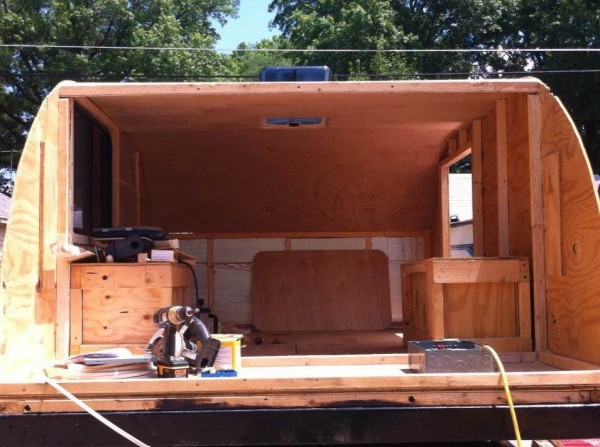 Cool  Project I Tried To Recreate A 1930sstyle Teardrop Camper Trailer