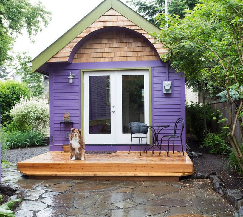 Purple tiny house vacation in portland or Small houses oregon