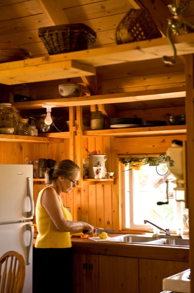 quietude cabin kitchen 4   Quietude: $29,000 Small Prefab Cabin that brings you Peace