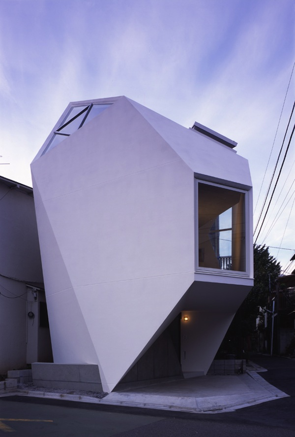 Modern minimalist small house in tokyo for Tiny house minimalist