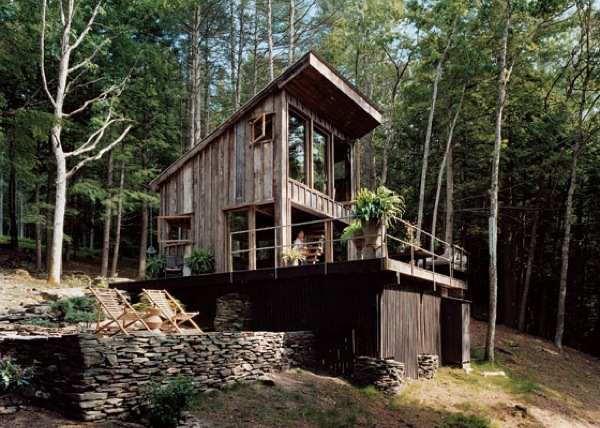 Small rustic cabin materials reclaimed from 100 year old barn for Living off the grid house plans