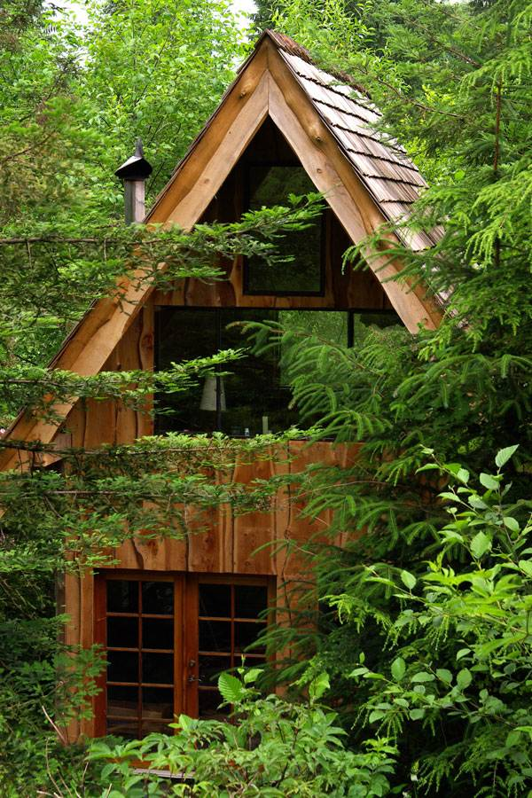 simple japanese inspired tiny house zen cabin in the woods 01   Simple, Japanese Inspired Tiny House.. Zen Cabin in the Woods