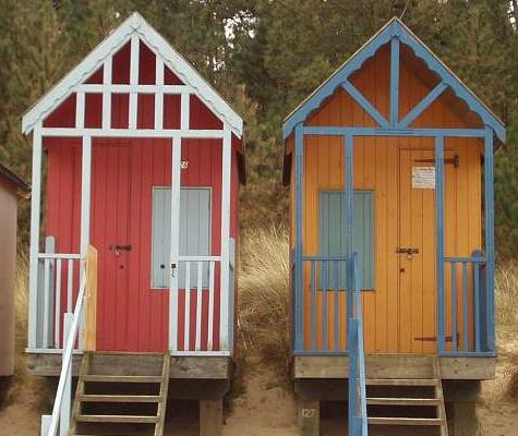 small beach huts 2   Handcrafted Beach Huts and Sheds by James Ward