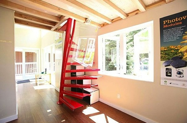 modern staircase to loft - Tiny Houses California