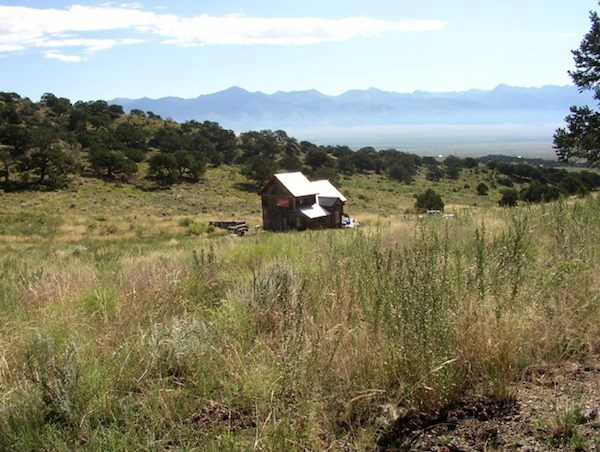 small rustic cabin for sale in colorado   Small Rustic Cabin on 40 Acres in Colorado with Mountain Views for Sale