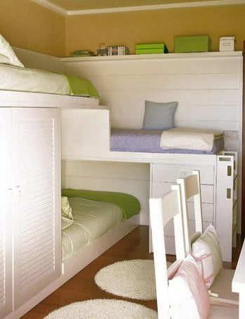 small space bedrooms 02   Top 4 Small Space Bedrooms: Bunk Bed Mania