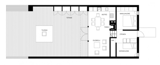 Small Wedge House Floor Plan
