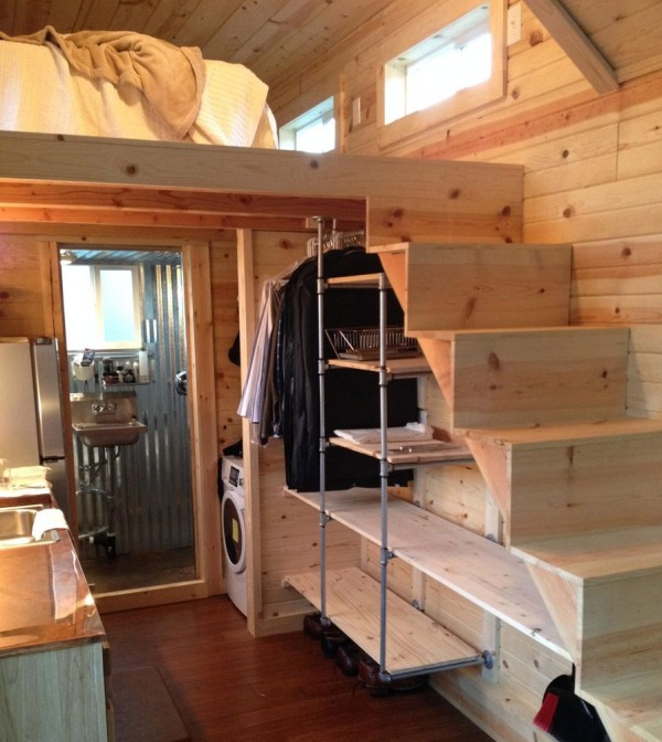 Small Homes That Use Lofts To Gain More Floor Space: Spacious Tiny House On Wheels By Tiny Idahomes