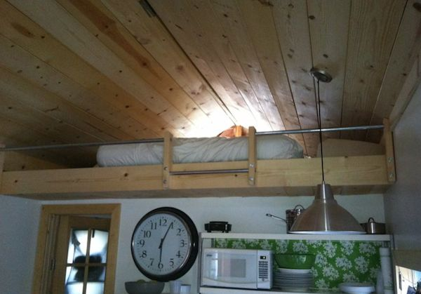 Sleeping Loft in a Tiny House