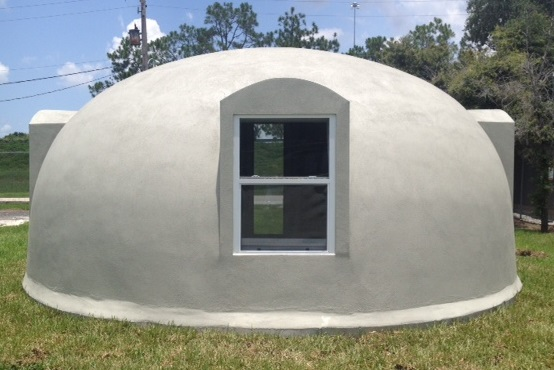 Styrofoam Dome 314 sq. ft. styrodome tiny dome homes