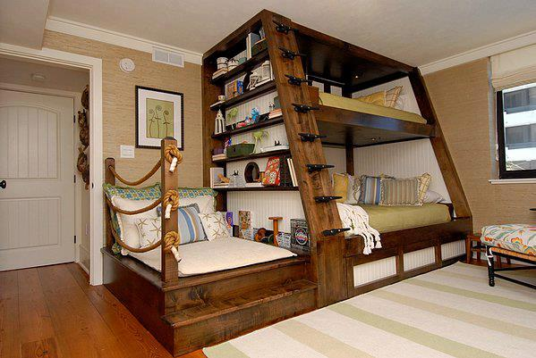 super bunk beds   Tiny House Furniture #22: Staircase Storage, Beds & Desks