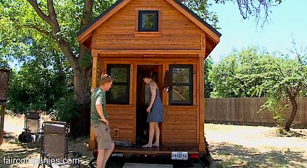 Tiny house couple living mortgage free and car free for How to get a land loan to build a house