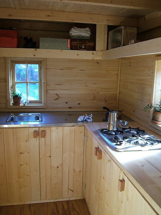 Inside the Tumbleweed Tarleton Tiny House - The Kitchen