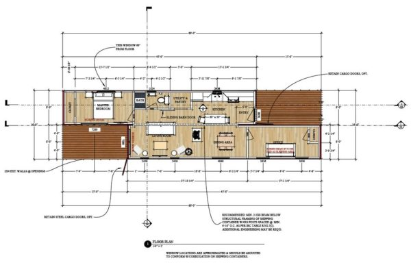 720 sq ft shipping container house plans Shipping container blueprints