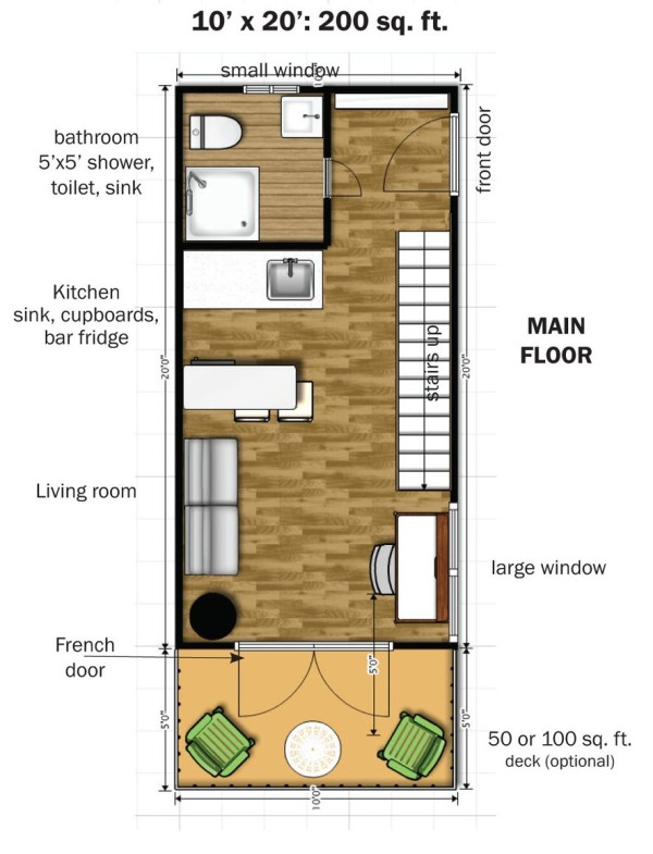 The eagle 1 a 350 sq ft 2 story steel framed micro home How big is 600 square feet