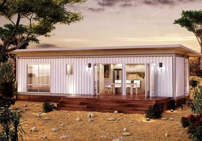 645 sq ft modern shipping container modular home - Ft container home ...