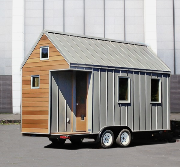 the miter box modern tiny house on wheels by shelter wise llc. Black Bedroom Furniture Sets. Home Design Ideas