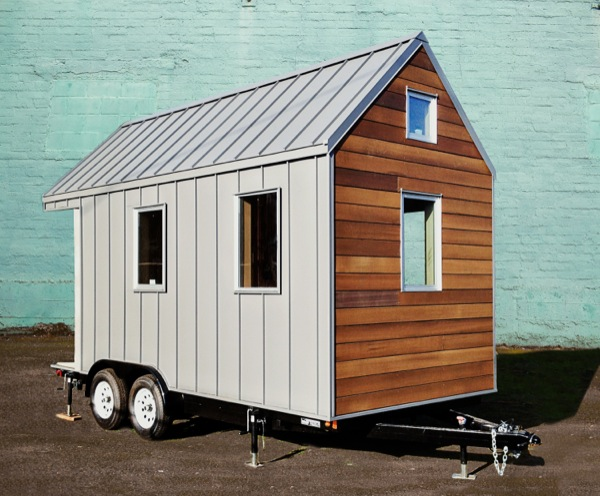 The miter box modern tiny house on wheels by shelter wise llc for Micro homes on wheels