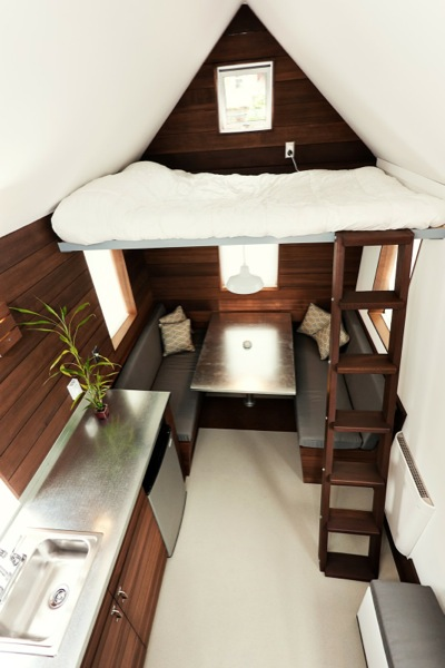 the miterbox tiny house on wheels 007   The Miter Box: Modern Tiny House on Wheels by Shelter Wise LLC