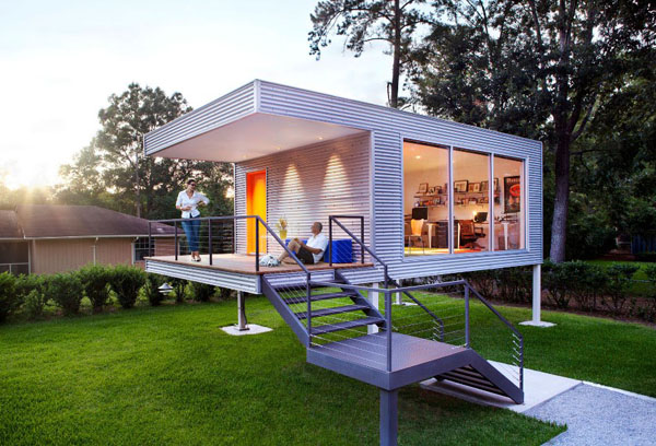 Modern tiny house used as office the think tank house for Contemporary tiny house