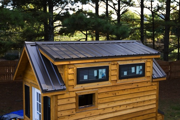 tinier living tiny house metal roof installation   Tiny Home Builders Workshop: Alpharetta Georgia