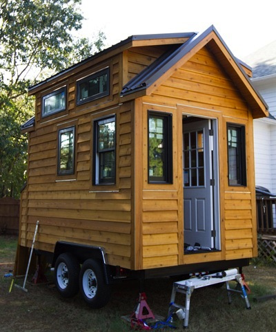 Front view of Tinier Living from Tiny Home Builders