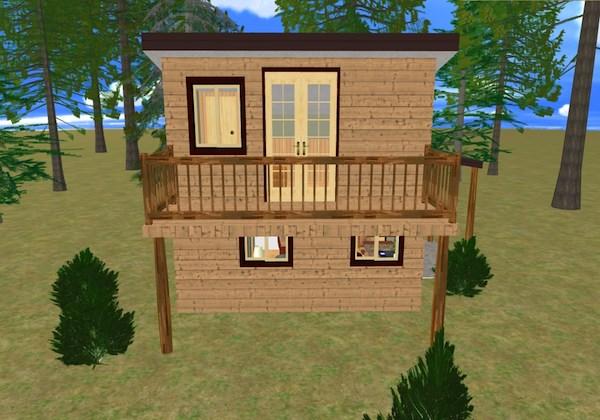 Tiny Cube House with Balcony