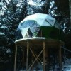 Tiny Geodesic Dome on Stilts with a View