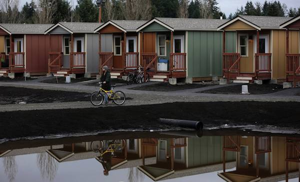 More tiny homes for the homeless now in seattle for Build on your lot washington state