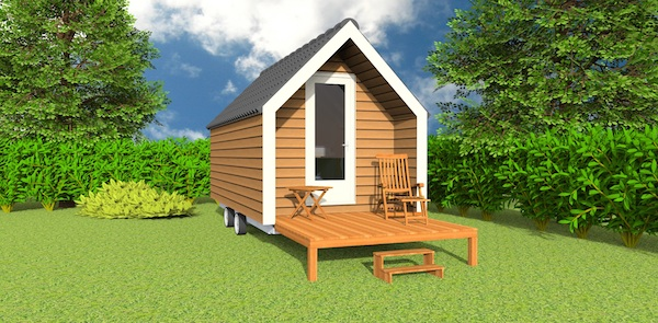 The mobile wooden hut micro cabin design for campgrounds for Small hut plans