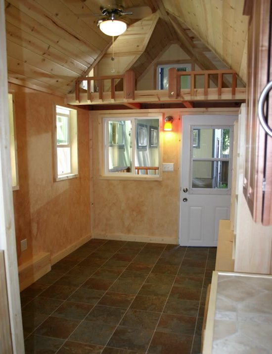 Tiny House With Loft indian blanket loft 3 Tiny House On A Trailer 2 Lofts And A Big Porch