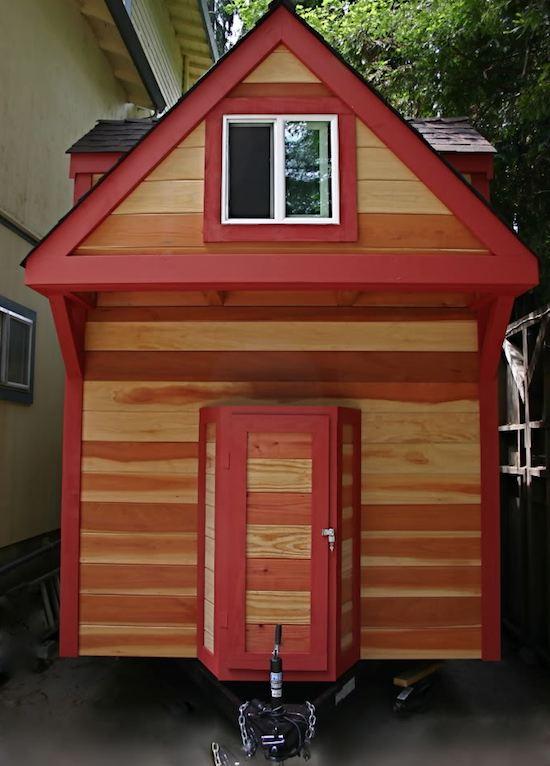 tiny house on a trailer 2 lofts big porch 18   Tiny House on a Trailer with Two Lofts and Big Porch
