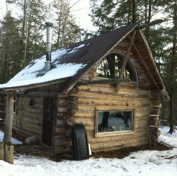 Tiny log cabin in the woods from mark Tiny cabin