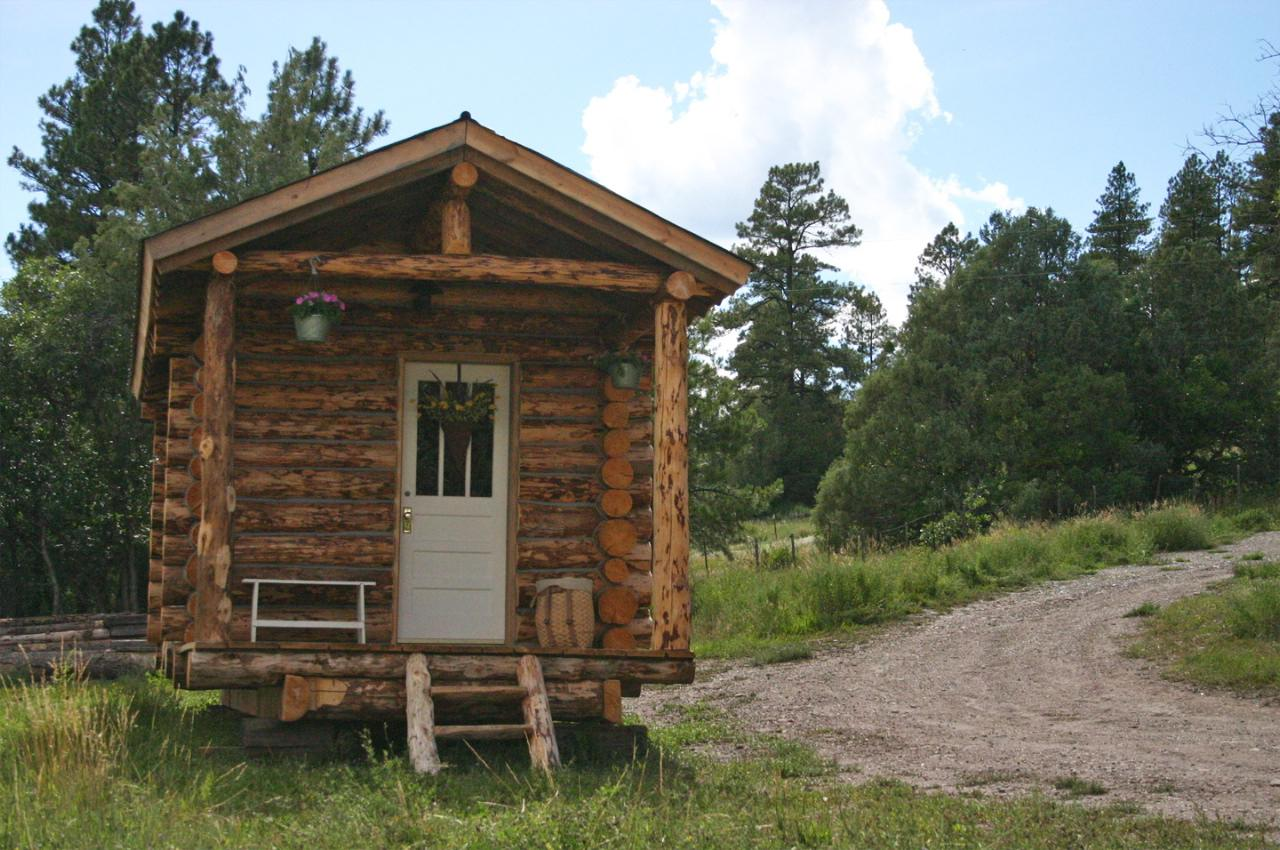 tiny log cabin ski hut 2   Tiny Log Cabin by Jalopy Cabins