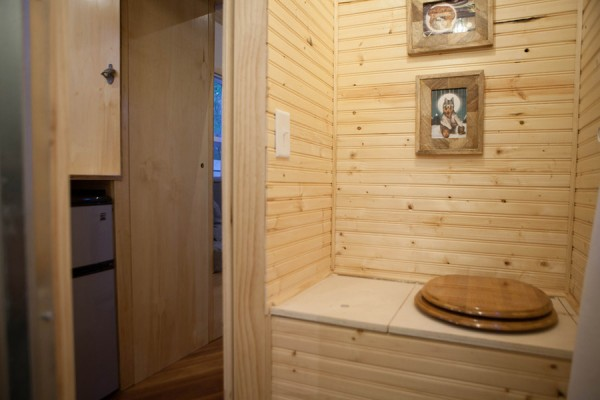 Bathroom with Composting Toilet