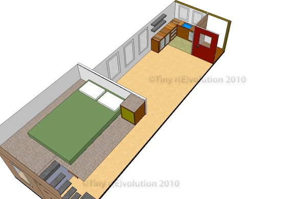 Andrew Odom's Tiny House Design on Sketchup