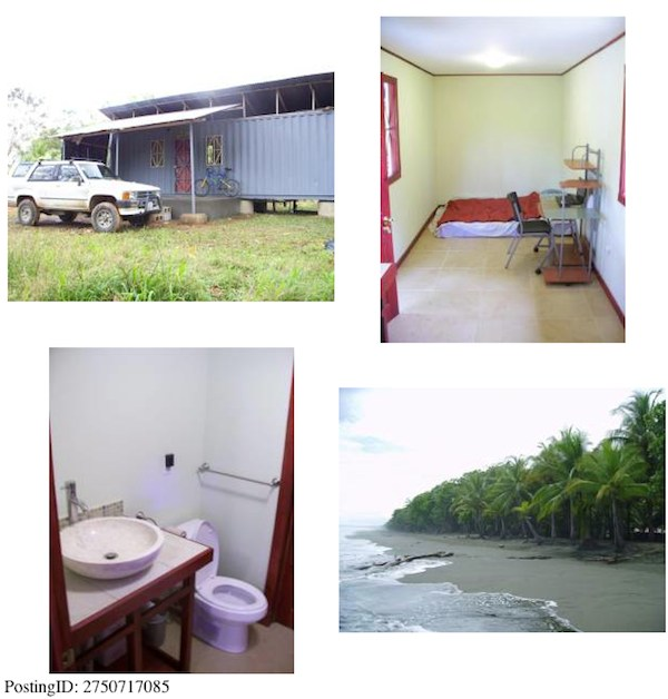 Tiny Shipping Container House in Costa Rica