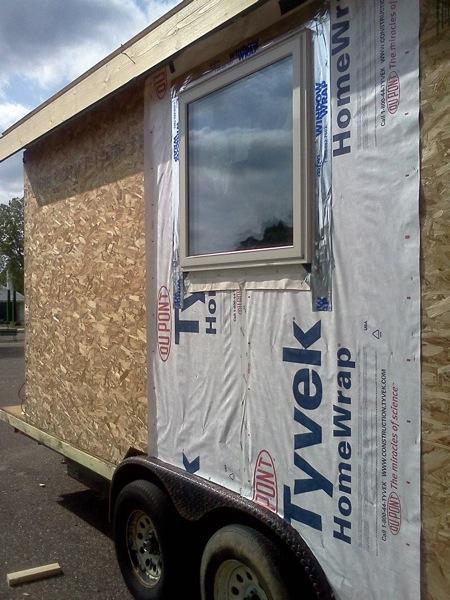 tiny solar house wrap   Tiny Solar House: Minnesota Renewable Energy Society