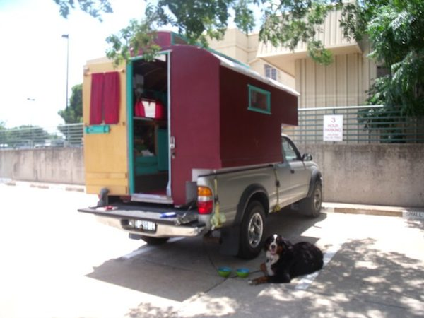 toyota truck bed micro camper 6   Custom Built Truck Bed Micro Camper that Fits Toyota Tacoma