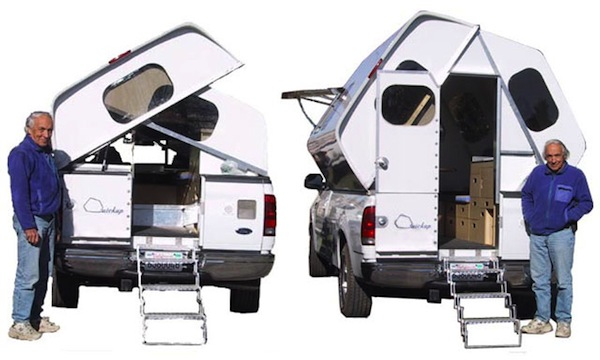 Truck Camper Quickup In Action Transforming Expands