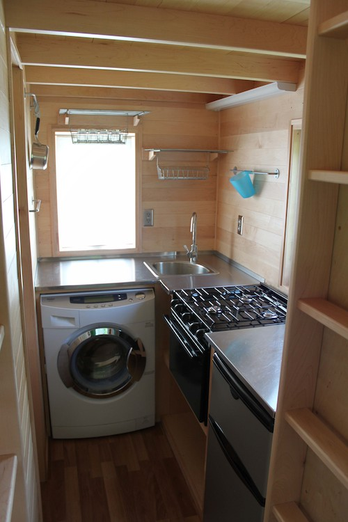photos courtesy of weston becker tumbleweed fencl tiny house kitchen - Tiny House Washer Dryer